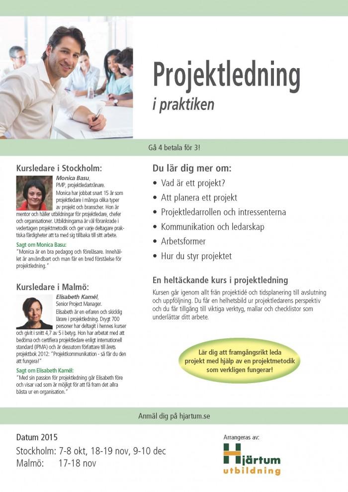 Projektledarutbildning och projektledarkurs
