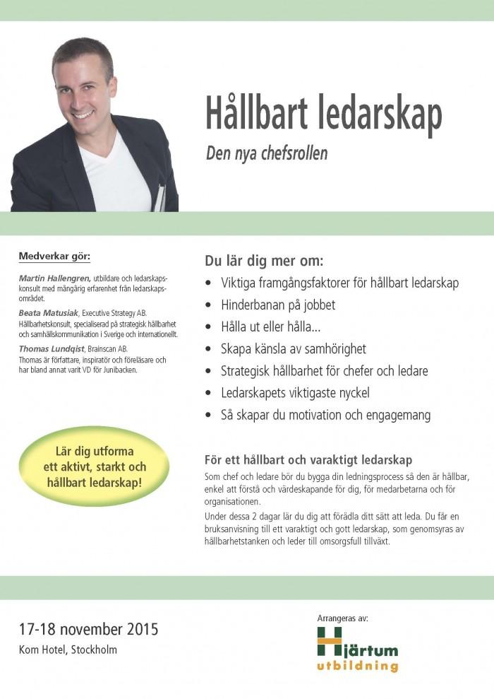 Hållbart ledarskap, ledarskapsutbildning